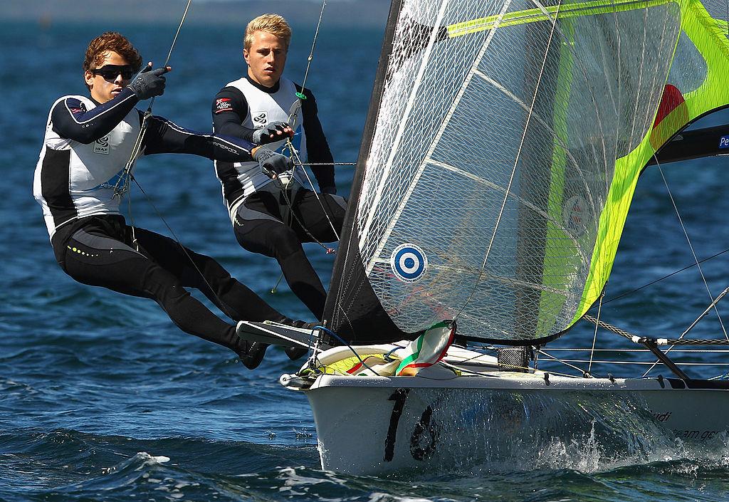 Erik Heil y Thomas Maximilian Ploessel del equipo Alemán durante una competencia de Vela en Perth Australia, en diciembre de 2011. (Crédito: Mark Dadswell/Getty Images/ foto de archivo)