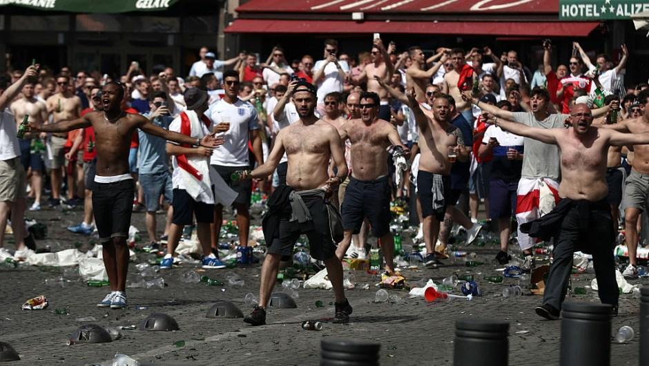 FAnáticos Rusia Inglaterra Eurocopa 2016 UEFA