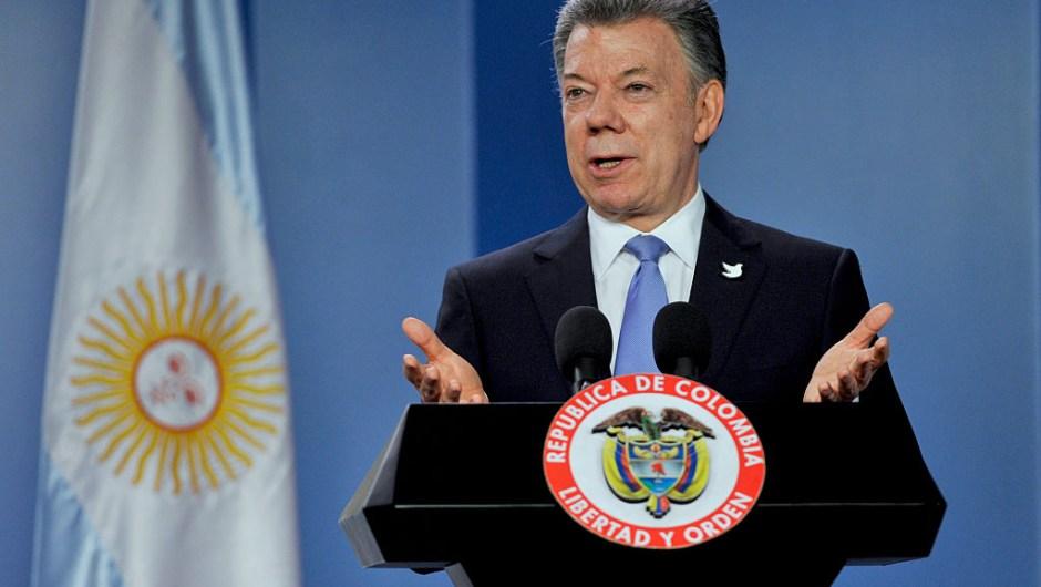 El presidente de Colombia Juan Manuel Santos (Crédito: GUILLERMO LEGARIA/AFP/Getty Images)