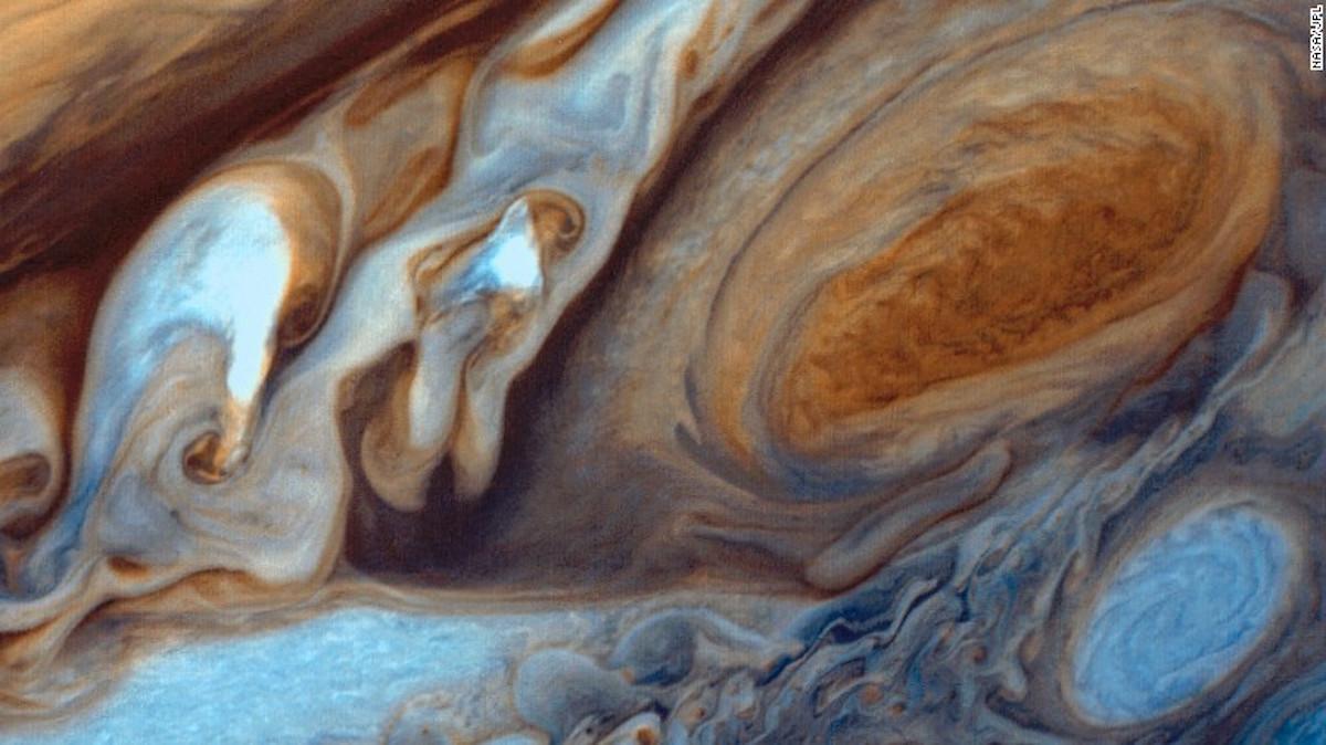 La Mancha Roja de Júpiter es tres veces más grande que el tamaño de la Tierra. (Crédito: Nasa/JFL)