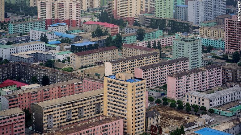 Vista al este de Pyongyang desde la torre Juche.