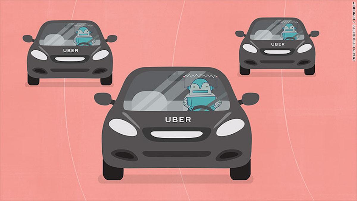 Los empleos generados por Uber se verían amenazados por coches autónomos, según estiman expertos.