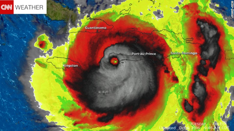 Imagen de calavera sonriente en el huracán Matthew asusta en internet | CNN