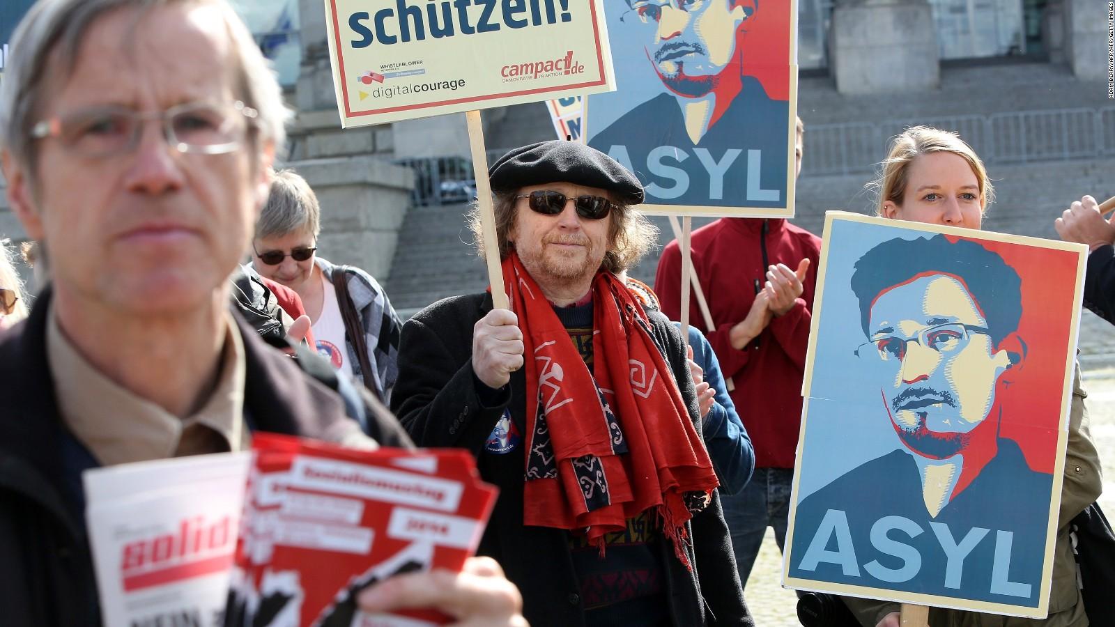 Manifestación de apoyo a Edward Snowden en Berlín, Alemania en 2014.