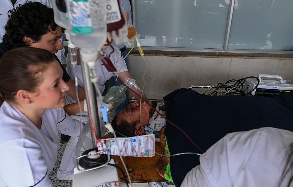 Helio Neto recibió atención médica (LUIS ACOSTA/AFP/Getty Images)