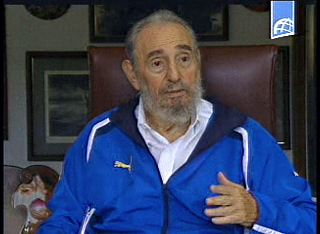 22 de agosto de 2009 | Fidel Castro durante una reunión con estudiantes venezolanos. (Crédito: AFP/Getty Images)