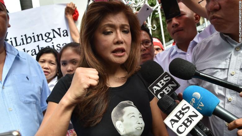 Imee Marcos, hija de Ferdinand Marcos. (Crédito: Getty Images)
