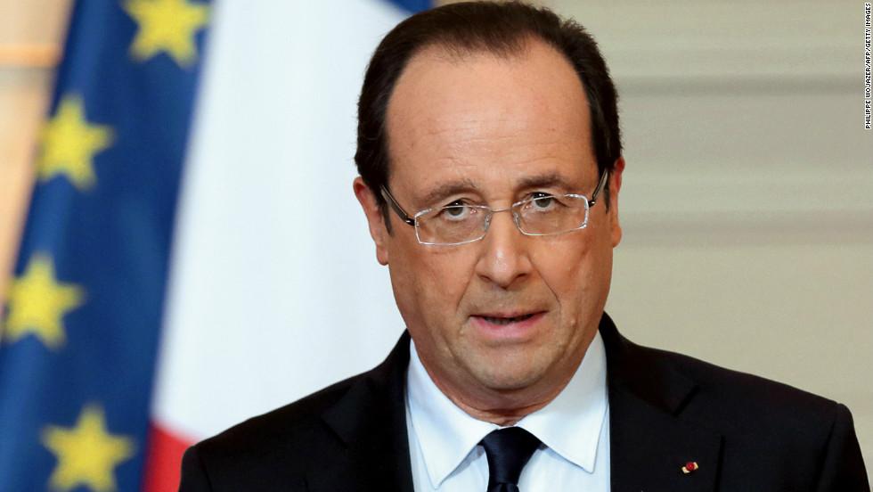 Hollande está en el cargo desde mayo del 2012.