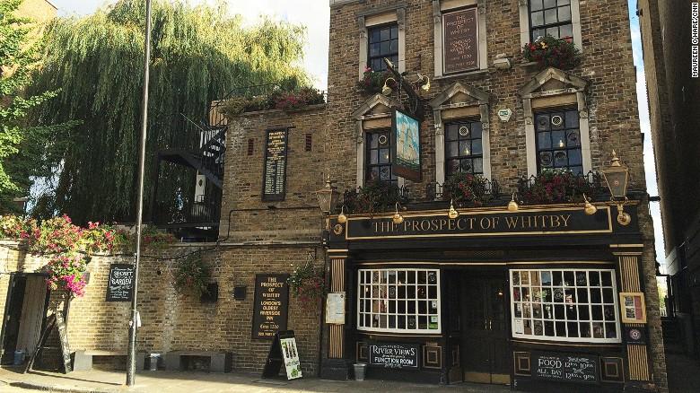 The Prospect of Whitby, uno de los pubs más antiguos de Londres, capital de un país con tradición cervecera que viene de hace siglos.