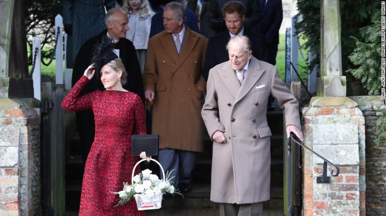 El príncipe Felipe asistió a la ceremonia religiosa.