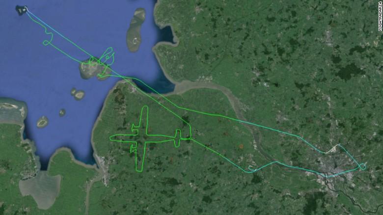 El dibujo de este avión también causó diversión.