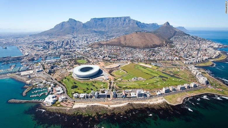 Montaña de la Mesa (Ciudad del Cabo, Sudáfrica).