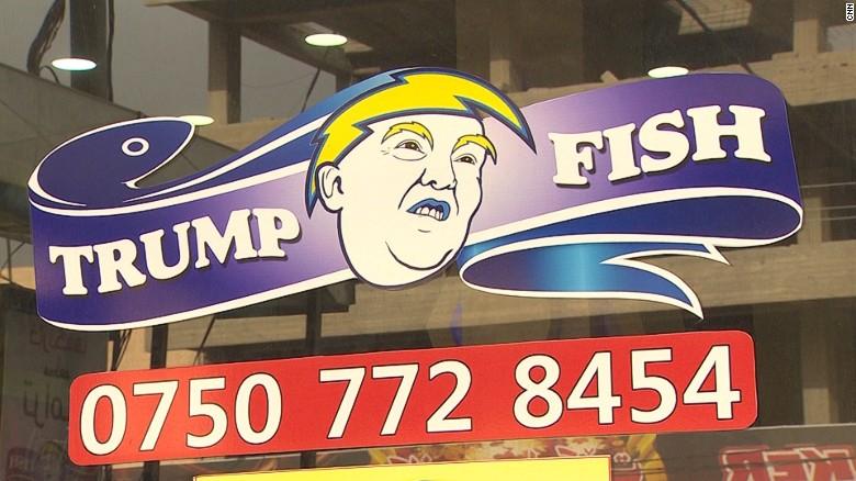 Este es el logo del restaurante temático de Donald Trump que se inauguró en la ciudad de Dohuk, en el norte de Iraq.