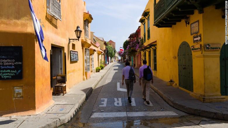 Las calles de la ciudad amurallada, en Cartagena.