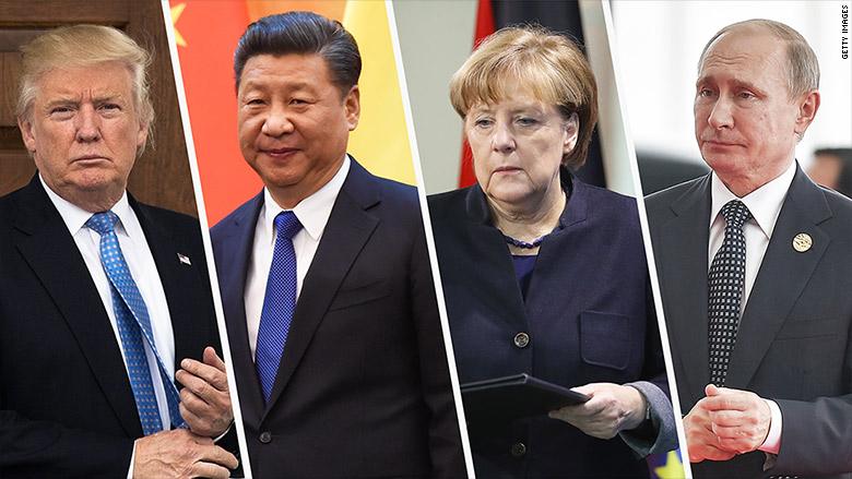 Los líderes de Estados Unidos, China, Alemania y Rusia enfrentarán este año enormes desafíos en todos los campos.