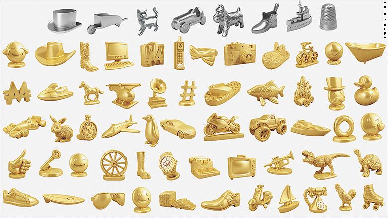Es posible que la próxima vez que juegues Monopolio debas utilizar figuras inspiradas en emojis o 'hashtags'.