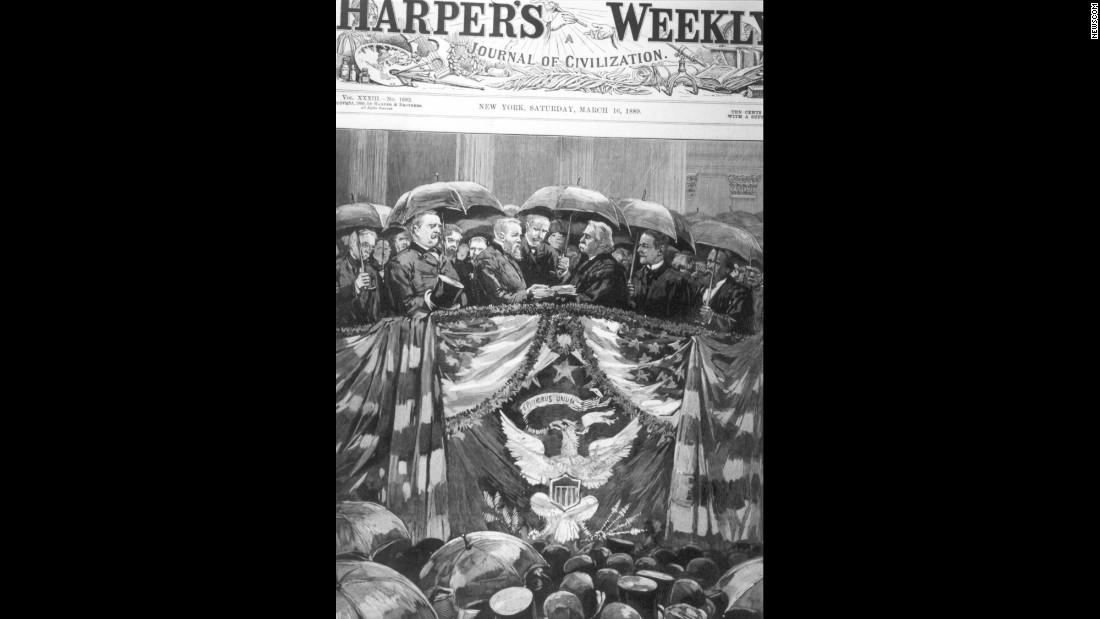 Al parecer, William Henry Harrison ni siquiera usó una sombrilla.