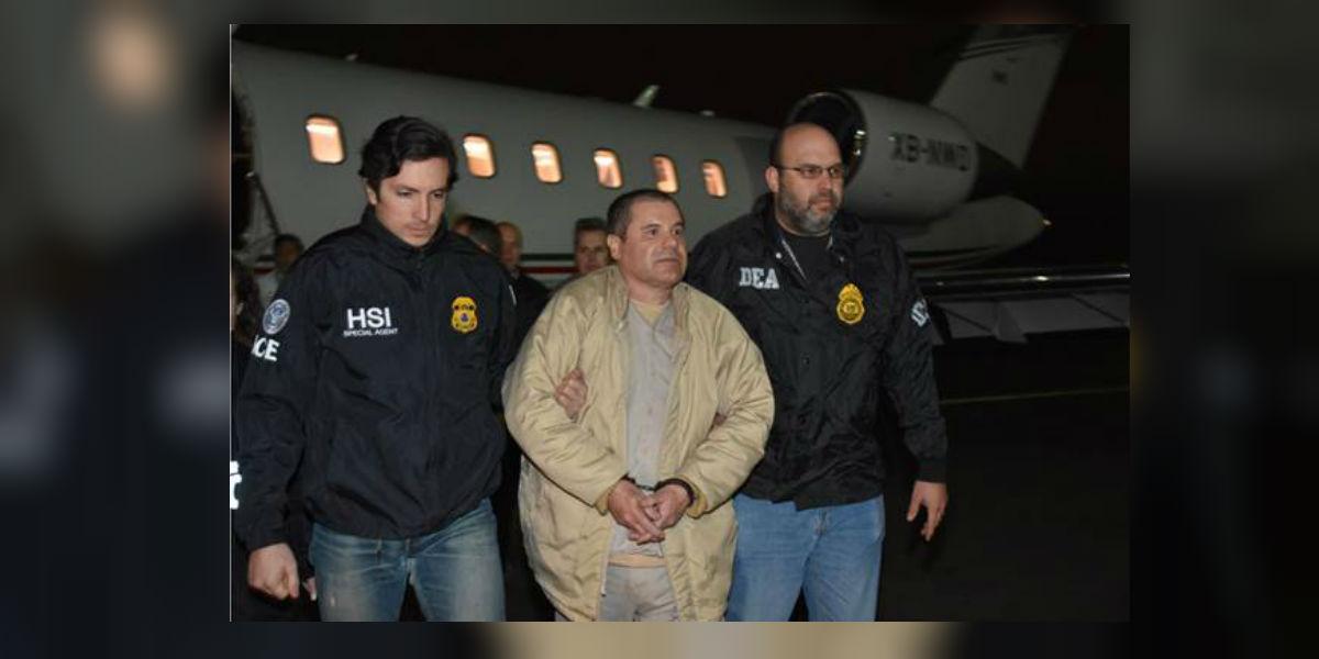 """""""El Chapo"""" al llegar a Nueva York. (Cortesía: DEA)."""