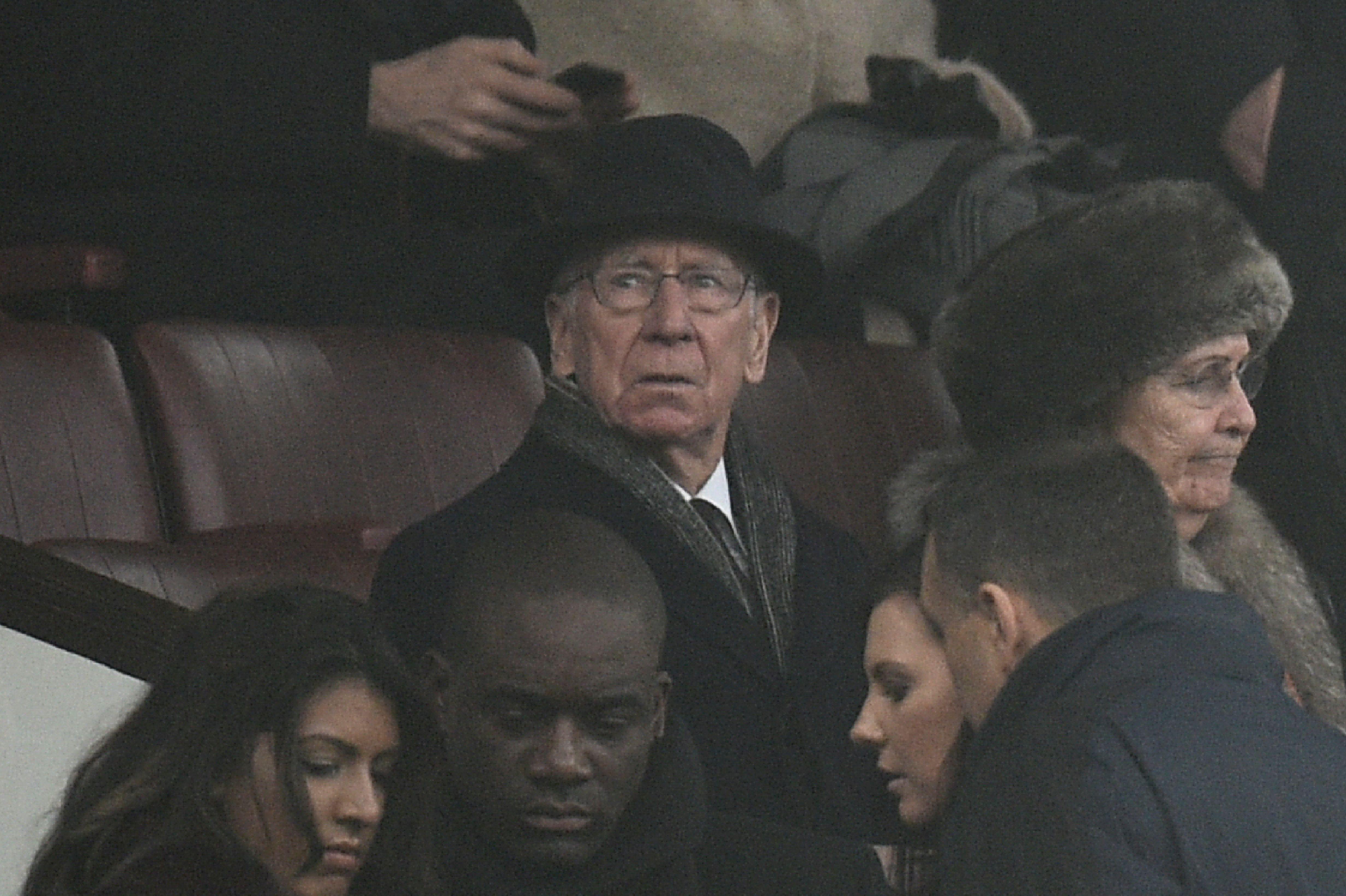 Bobby Charlton, presente en el acontecimiento histórico del sábado. (Crédito: OLI SCARFF/AFP/Getty Images)