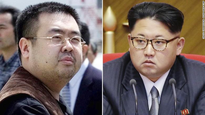 Kim Jong-nam (i) era hermano medio del líder norcoreano Kim Jong-un (d).