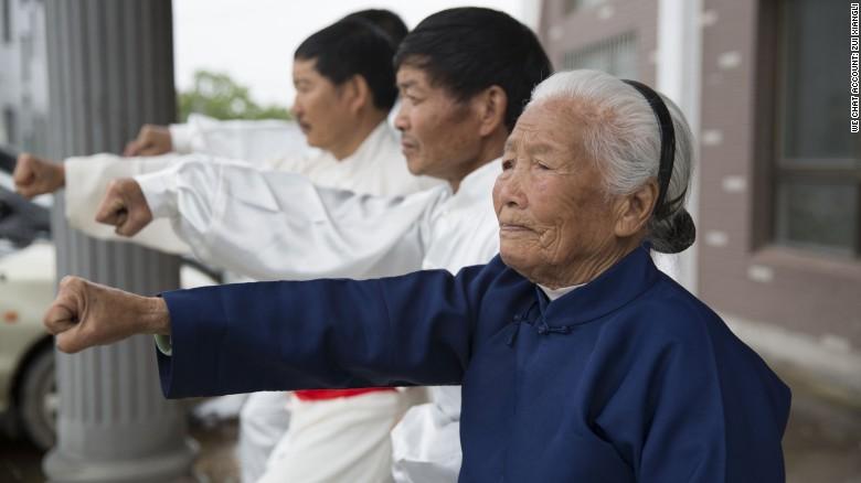 El estilo de kung-fu que Zhang practica viene de la provincia de Fujian.