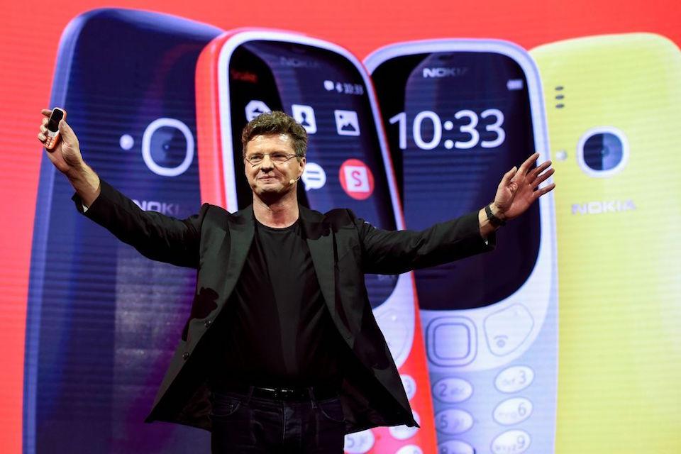 Arto Nummela, director ejecutivo de HMD global, presentó el nuevo Nokia 3310. (JOSEP LAGO/AFP/Getty Images)
