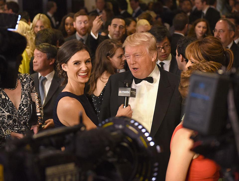 Donald Trump, durante la cena con corresponsales de la Casa Blanca en 2015. (Larry Busacca/Getty Images)