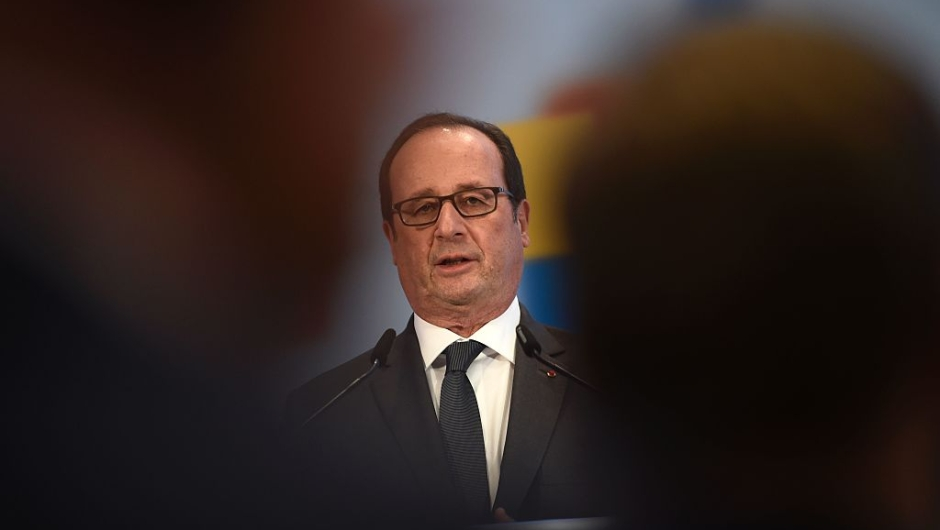 French President Francois Hollande addresses the audience during a German-French digital conference on December 13, 2016 in Berlin. / AFP / ODD ANDERSEN (Photo credit should read ODD ANDERSEN/AFP/Getty Images)