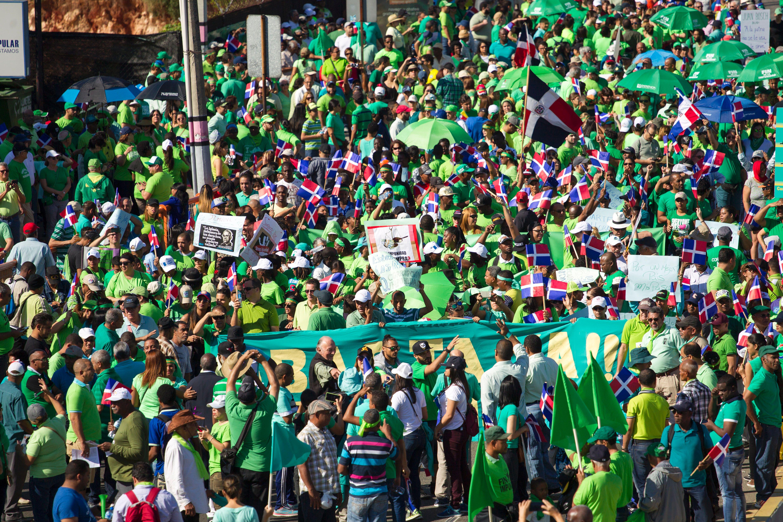 Imagen de la marcha del pasado 22 de enero por las calles de Santo Domingo. (Crédito: ERIKA SANTELICES/AFP/Getty Images)