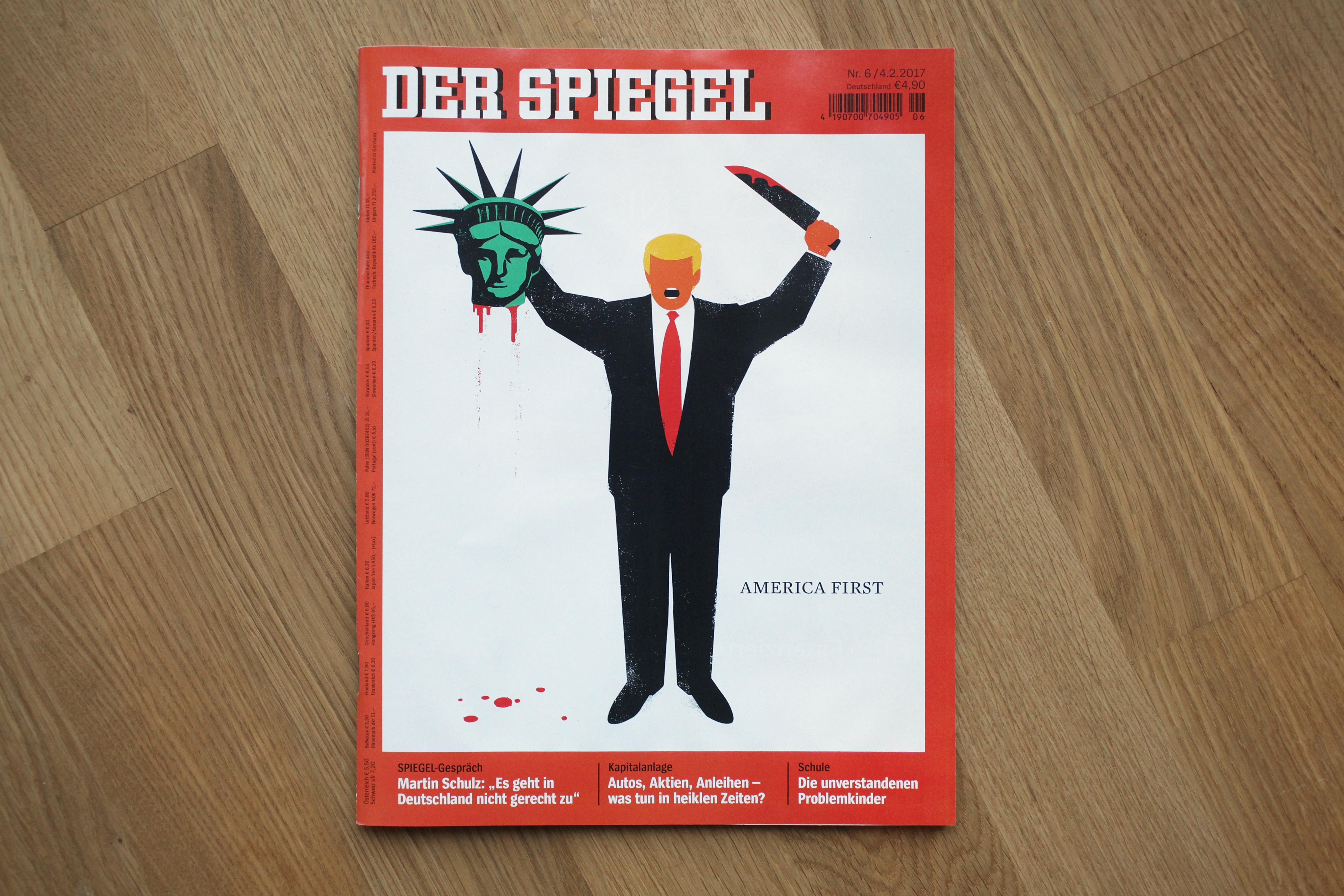 La portada de la edición más reciente de la revista alemana Der Spiegel. (Crédito: Sean Gallup/Getty Images)