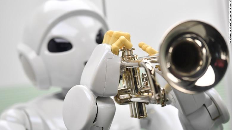 Harry, un robot diseñado por Toyota en 2005, puede tocar la trompeta.