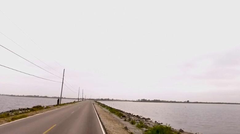 La Carretera de la Isla en Isle de Jean Charles, Louisiana.