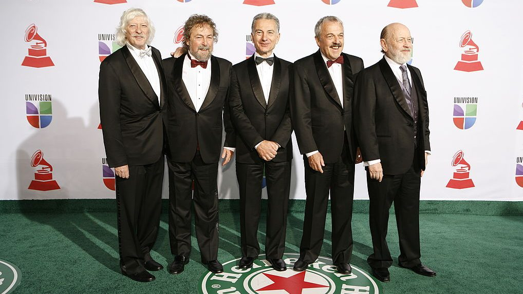 Les Luthiers arrive for the 12th annual Latin Grammy Awards at the Mandalay Bay Hotel and Casino Event Center in Las Vegas, Nevada on November 10, 2011. AFP PHOTO / ADRIAN SANCHEZ-GONZALEZ (Photo credit should read ADRIAN SANCHEZ-GONZALEZ/AFP/Getty Images)