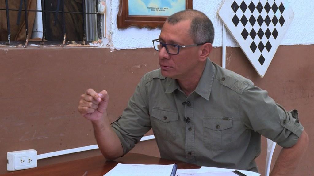 Jorge Glas durante la entrevista con Ana María Cañizares desde la cárcel.