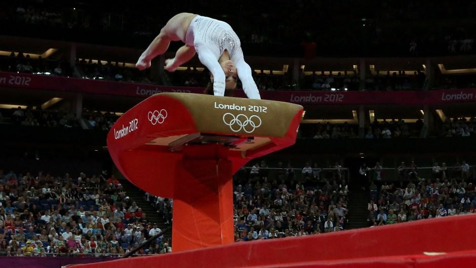 McKayla Maroney compite en salto de caballo durante los Juegos Olímpicos de Londres 2012 el 5 de agosto de 2012. Crédito: Ronald Martinez / Getty Images.