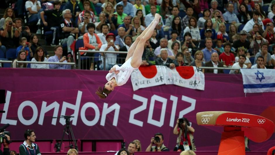McKayla Maroney compite en la final de salto de caballo en los Juegos Olímpicos de Londres el 5 de agosto de 2012. Crédito: Ezra Shaw / Getty Images