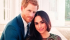 In this photo released by Kensington Palace on Thursday, Dec. 21, 2017, Britain's Prince Harry and Meghan Markle pose for one of two official engagement photos, at Frogmore House, in Windsor, England. (Alexi Lubomirski via AP)