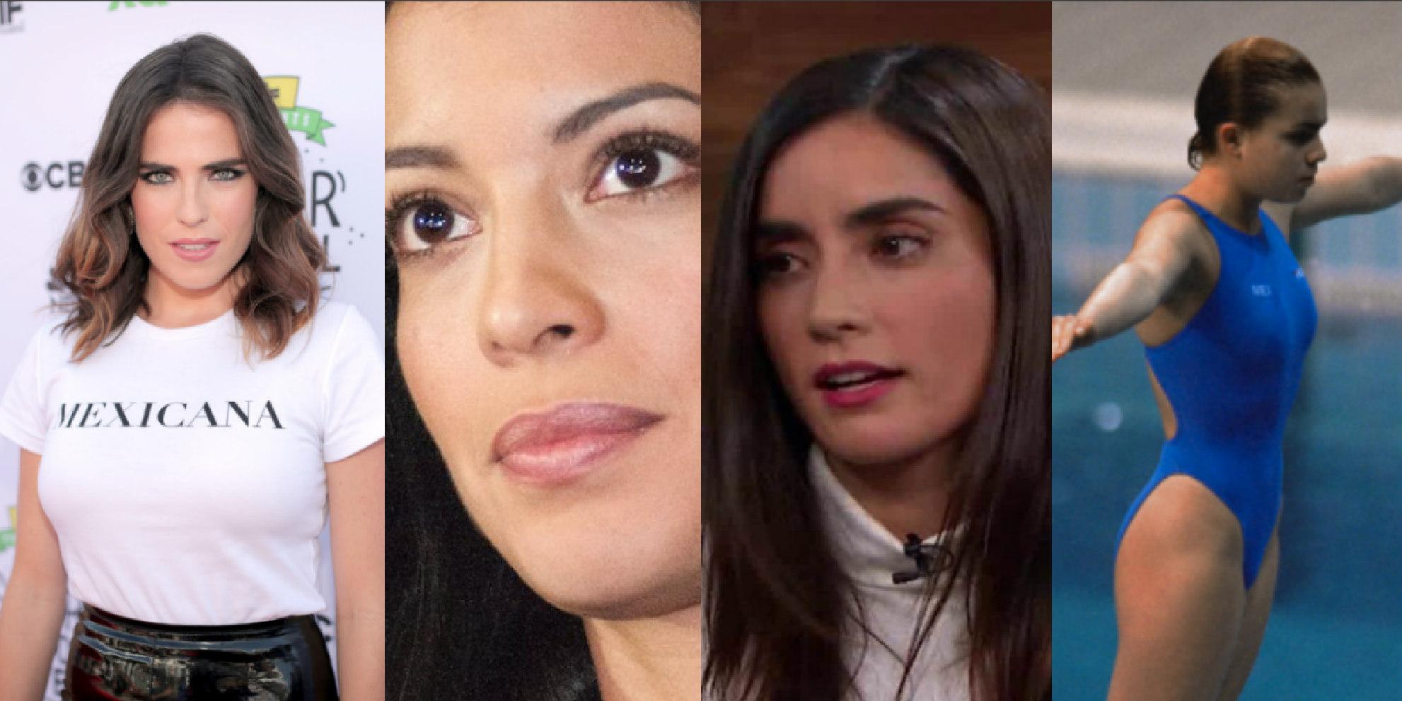 Actrices Karla Souza, Stephanie Sigman y Paola Núñez y la clavadista olímpica Azul Almazán