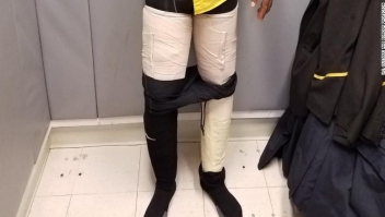 An airline's crew member was caught with nine pounds of cocaine taped to his legs. The full press release below. Credit: U.S. Customs and Border Protection Crew Member Caught by CBP at JFK with Packages of Cocaine https://www.cbp.gov/newsroom/local-media-release/crew-member-caught-cbp-jfk-packages-cocaine Release Date: March 21, 2018 JAMAICA, N.Y. ??? An arriving crewmember discovered that he could not get a leg up on U.S. Customs and Border Protection officers in his attempt to transport illegal drugs into the United States. On March 17, Mr. Hugh Hall, a citizen of Jamaica, and crew member of Fly Jamaica Airways arrived at John F. Kennedy International Airport from Montego Bay, Jamaica and presented himself for inspection. Mr. Hugh was escorted to a private search room where CBP officers discovered four packages taped to his legs, all of which contained a white powder that tested positive for cocaine. Mr. Hall was arrested for the importation of a controlled substance and was turned over to Homeland Security Investigations. Approximately 9 lbs. of cocaine was seized, with an approximate street value of $160,000. ???This seizure is another example of our CBP officers being ever vigilant in protecting the United States from the distribution of illicit drugs,??? said Leon Hayward, Acting Director of CBP???s New York Field Operations. Mr. Hall faces federal narcotics smuggling charges and will be prosecuted by the U.S. Attorney???s Office in the U.S. Eastern District Court of New York. All defendants are considered innocent until proven guilty.
