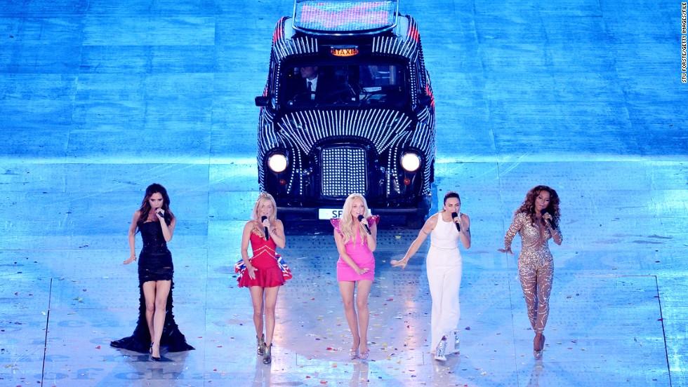 Actuación de las Spice Girls en la clausura de los Juegos Olímpicos de Londres en 2012