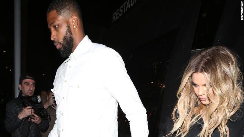 Khloe Kardashian and boyfriend Tristan Thompson share a passionate kiss as they leave the Lavoo Lounge in Los Angeles. 19 Mar 2017 Pictured: Khloe Kardashian And Tristan Thompson. Photo credit: MEGA TheMegaAgency.com +1 888 505 6342 (Newscom TagID: maphotos561271.jpg) [Photo via Newscom]