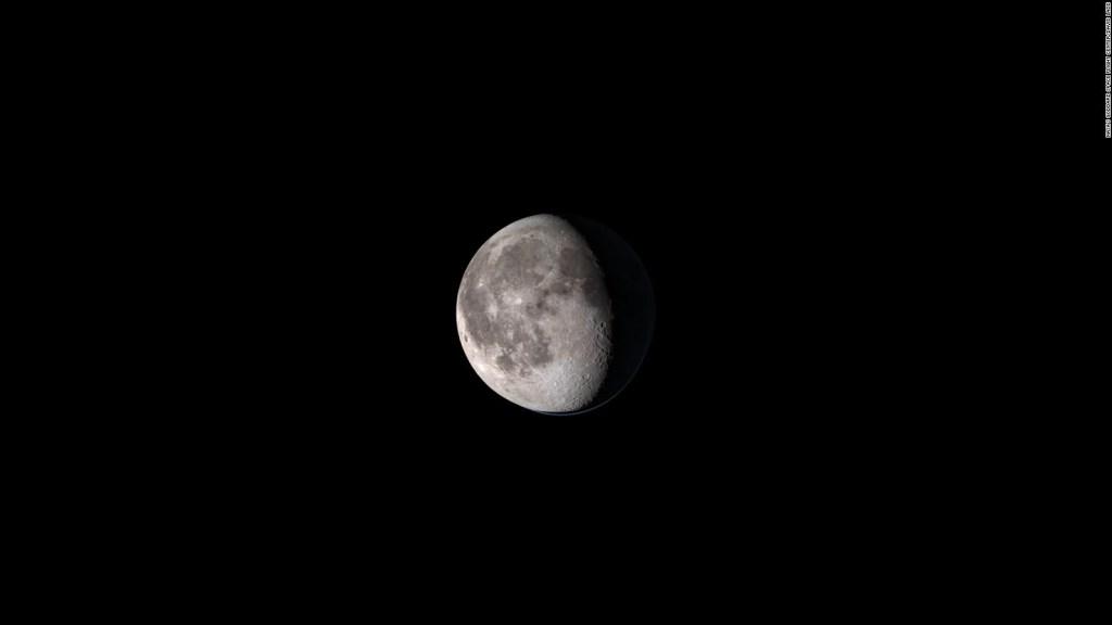 Así se ve la Luna en 4K