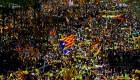 Las calles de Barcelona se vistieron de amarillo en protestas independentistas