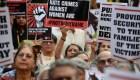 Masiva protesta contra agresiones sexuales en la India