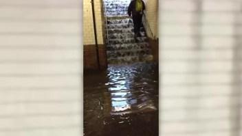 Lluvias e inundaciones en el metro de Nueva York