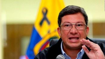 Ministro del Interior de Ecuador: La paz no se negocia con asesinos