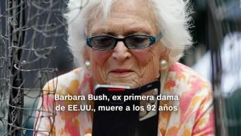 #MinutoCNN: Muere Barbara Bush y más noticias