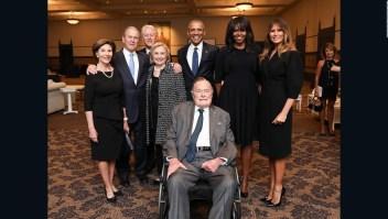 Cuatro expresidentes le dieron el último adiós a Barbara  Bush