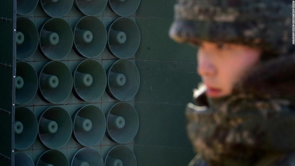 Corea del Sur, Corea del Norte, altavoces, frontera, propaganda, militar