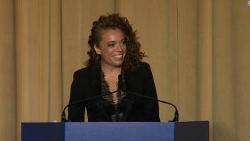 Michelle Wolf, comediante que dio el discurso en la cena de corresponsales de la Casa Blanca 2018